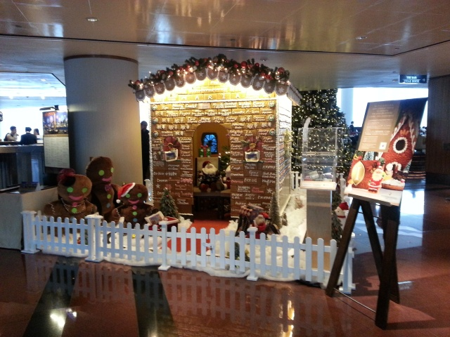 Gingerbread house at the Intercontinental